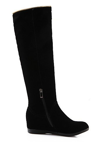 Tacón black mujer a eu35 eu35 us5 XZZ Vestido us5 Zapatos uk3 cn34 uk3 cn34 Moda Casual Cuñas de Vellón Punta us5 5 Redonda la cn35 eu36 Negro Cuña Botas Botas black 5 uk3 black qtqzw