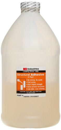 Vibra-TITE 240 No-Mix Acrylic Fast Fixturing Magnet Bonder Structural Adhesive, 1 Liter Bottle, Amber by Vibra-TITE
