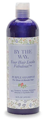 Purple Shampoo for Silver, Gray and Blonde Hair: Brighten and Remove Yellowing or Brassy Tones with No Sulfates, No Parabens - 16 ounce - Cruelty-Free for Color-Treated and Natural Hair