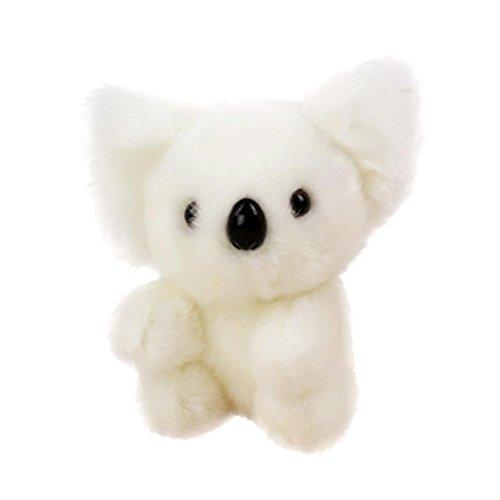 ILUCI Stuffed Animals Plush Animals Cute Stuffed Simulation Koala Zoo Animals Gift Koala Toy Children Doll 13cm (White)