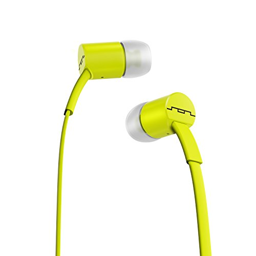 SOL REPUBLIC Jax Wired 1-Button In-Ear Headphones, Android Compatible, Tangle Free Cable, In-Ear Noise Isolation, 4 Ear Tip Sizes, Great For Calls, 1112-30 Lemon Lime