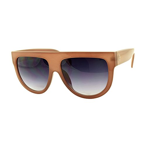 ROXX- Celebrity Style Oversized Translucent Brown with Smoked Brown - Celebrity Sunglasses Hot