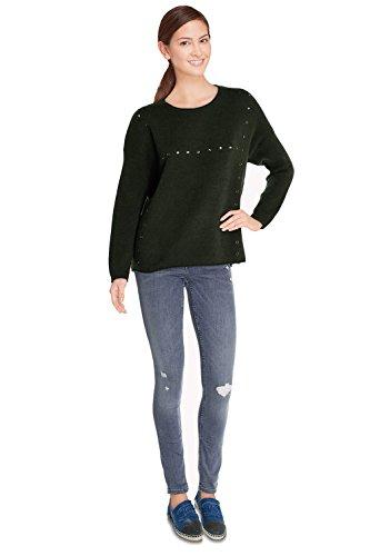 CHERRY PARIS - Jerséi - suéter - Básico - Cuello redondo - Manga Larga - para mujer caqui