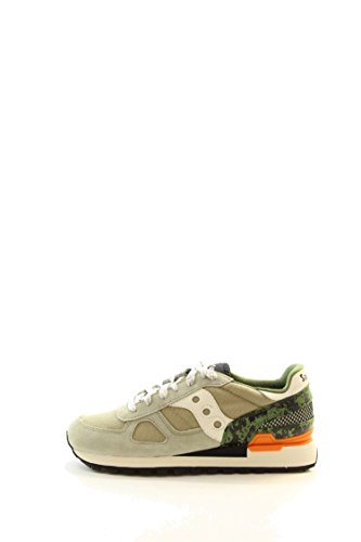 Sneaker Saucony Shadow in suede e tessuto mesh. LIMITED EDITION Olive/Black/Orange