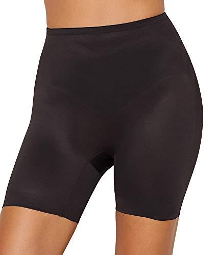 TC Fine Intimates Adjust Perfect Firm Control Shaping Shorts, XL, Black (Boyshort Mesh Fine)