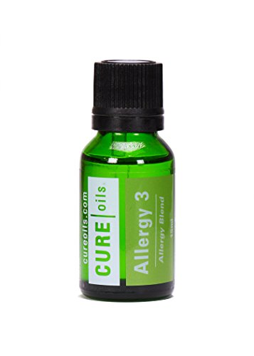 Allergy Relief Essential Oil For Sinus Infection & Allergies Supports Breathing, Sinusitis, Congestion, Respiratory System - 100% Pure Organic Natural Therapeutic Grade - 15ml Blend by Cure Oils