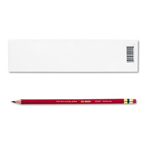 Prismacolor : Col-Erase Pencil with Eraser, Carmine Red Lead/Barrel, Dozen -:- Sold as 2 Packs of - 12 - / - Total of 24 Each