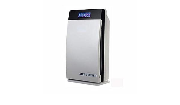 Purificador de aire con pantalla táctil multifunción Mute Home Dormitorio Oficina además de smog además de eliminación de humo y polvo, filtro Hepa real, carbón activado, generador de iones negativo: Amazon.es: Hogar