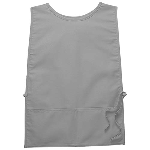 (DayStar Apparel 440XL Extra Large Two Pocket Squared Cobbler w/Rounded Neck, Silver )