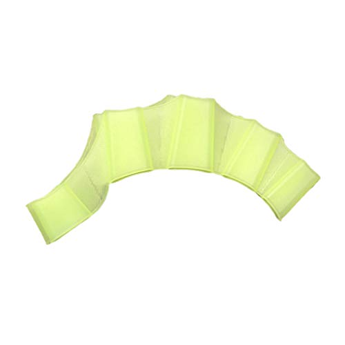Hot Sale!UMFun Silicone Hand Swimming Fins Flippers Swim Palm Finger Webbed Gloves Paddle Glove (L, Green)
