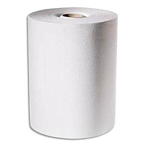 Lote de 6 rollos de toallas secamanos Dispensador electrónico para lonas 143 2 m x 24,7 cm, color blanco: Amazon.es: Oficina y papelería