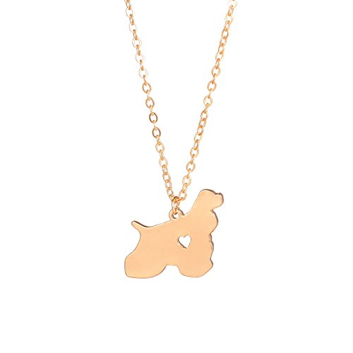Gold Cocker Spaniel Necklace Dog Pendant Dog Jewelry Dog Breed Pet Jewelry Pets Memorial Gift ()