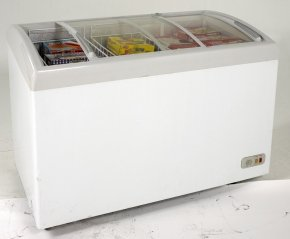 Avanti-CFC86F0WG-43-Commercially-Approved-Glass-Top-Display-Chest-Freezer-with-86-cu-ft-Capacity-in-White