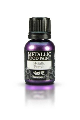 Rainbow Dust Metallic Purple Edible Food Paint characer-place