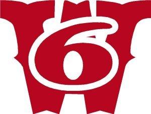 Worcester 6 W6 RED Memorial Helmet Decal 2