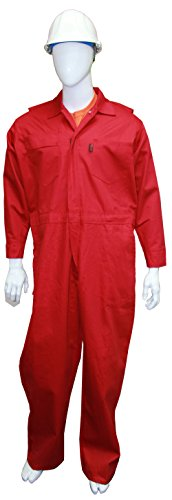 Chicago Protective Apparel 605-FRC-R-5XL FR Cotton Coverall, 5X-Large, Red