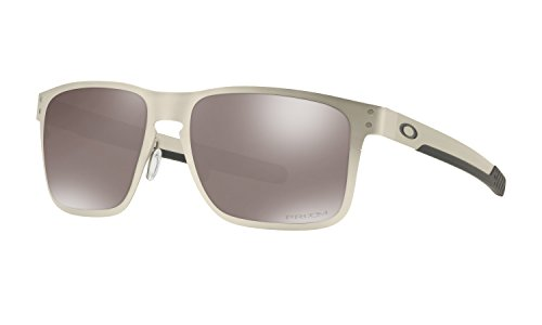 Oakley Holbrook Metal Sunglasses Satin Chrome with Prizm Black Polarized Lens + - Polarized Safety Oakley Glasses