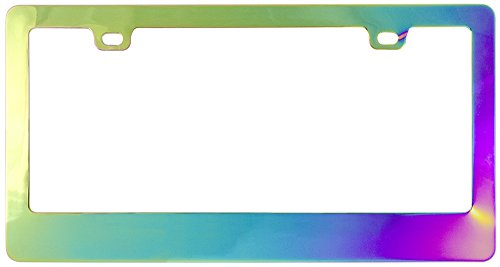Custom Frames 92824 Chrome Chameleon License Plate Frame