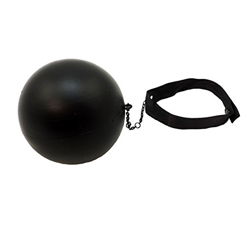 Small Plastic Ball & Chain Costume Accessory -