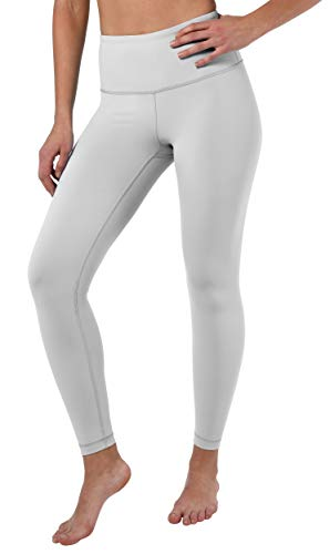 90 Degree By Reflex High Waist Squat Proof Ankle Length Interlink Leggings - Silver Lily - Small