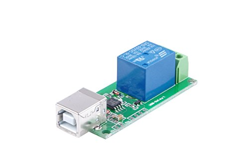 KNACRO 1-Channel 5V Relay Module With Square USB interface Plug and Play