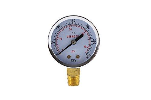 Low Pressure Gauge for Propane Regulator 0-40 psi - 2 inches