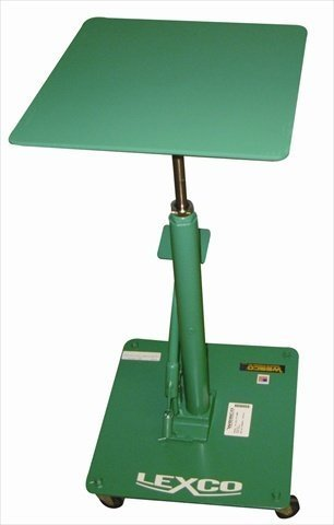 Wesco-Industrial-Products-492227-Steel-Foot-Operated-Hydraulic-Lift-Table-300-lb-Capacity-18-x-18-Tabletop-38-Height
