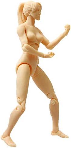 liberamoon 躍動感のあるイラストに! アクション ドール デッサン人形 可動フィギュア (1.女性・1/18スケール)