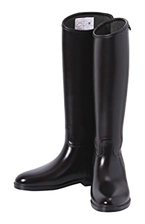 fc731e3990 Shires Long Rubber Riding Boots Ladies Black Wide 41  size 7 by Shires   Amazon.co.uk  Sports   Outdoors