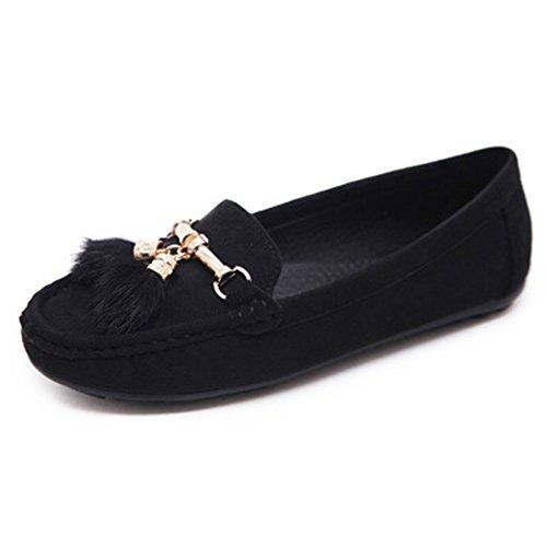 Chaussures Mocassin T-july Pour Femme - Slip Antidérapant Sur Mocassins Anti-dérapants Mocassins Tassel Clssic Noir