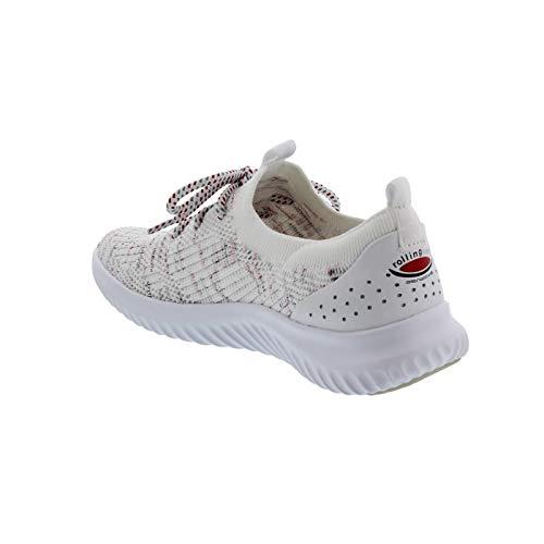 Blanco Mujer 13 Gabor 980 De 26 Cordones Para Tela Zapatos AxPTq