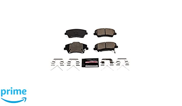 Power Stop 17-1912 Front Z17 Evolution Clean Ride Ceramic Brake Pad with Hardware