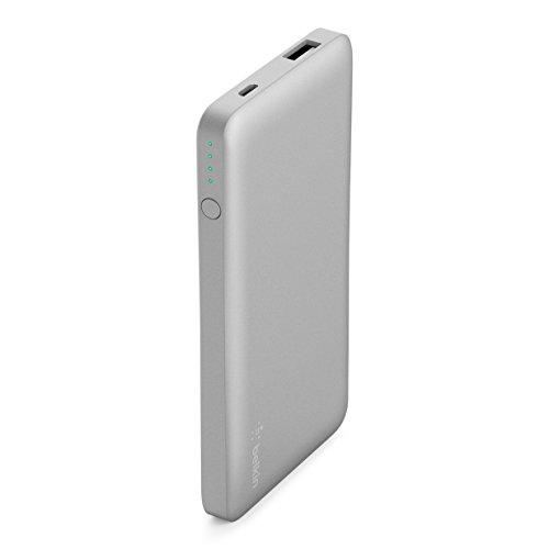 - Belkin 5,000mAh Power Bank Battery Pack (Silver)