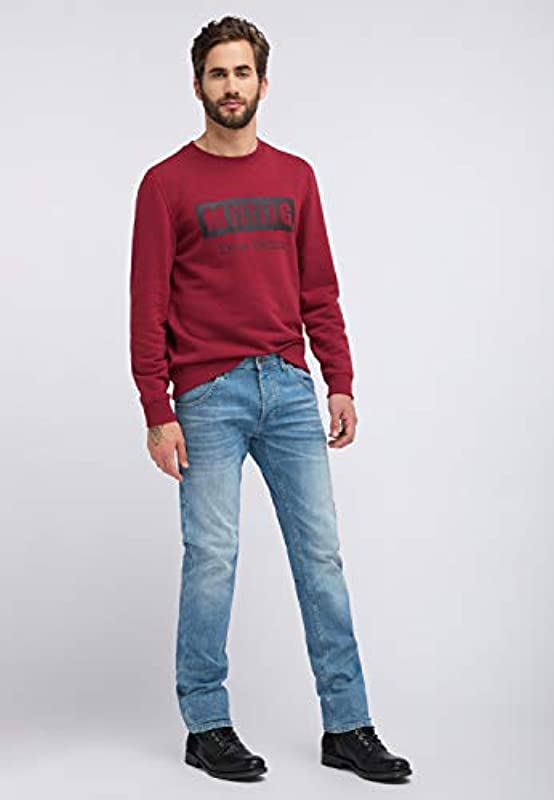 MUSTANG Regular Fit Michigan Tapered Jeans: Odzież