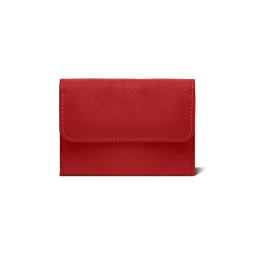 Lucrin Leather Small wallet Small Smooth Light Red Lucrin Green wr0Pqwd