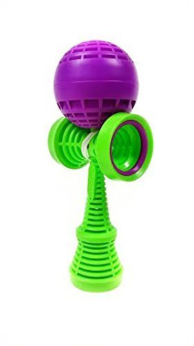 Catchy Air Kendama (Purple with Green Tama)