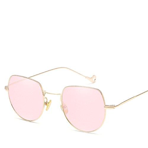 small square marine sunglasses men and women general sunglasses,Gold frame gradient ()