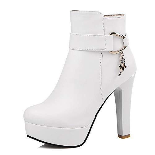 Moda Botines Mujer Tallas 2018 Invierno Zapatos 43 Hoesczs Plataforma Mejor White De 32 Altos Calidad Tacones Grandes Bota A5PW8nxq8v