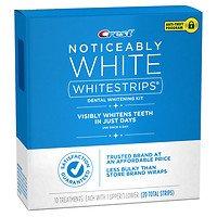 - Crest Noticeably White Whitestrips Dental Whitening Kit