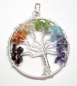Hermoso árbol de la vida colgante de piedra preciosa Wellness positiva energía joyería moda hombres mujeres regalo Wicca curación éxito potente accesorio protector