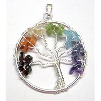 CRYSTALMIRACLE Beautiful Tree Of Life Gemstone Pendant Wellness Positive Energy Fashion Jewelry Men women Gift Healing…