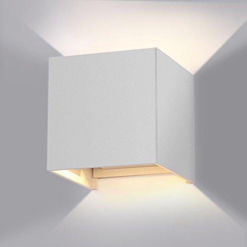 7W LED Wandleuchte Wandlampe mit einstellbar Abstrahlwinkel Design Wasserdichte IP 65 LED Wandbeleuchtung 2700K Warmweiß [Energieklasse A+]