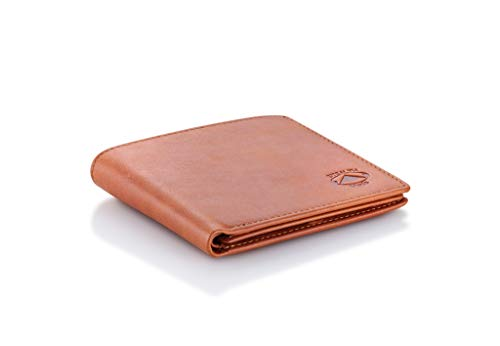 Stealth Mode Leather Bifold Wallet for Men With ID Window and RFID Blocking (Beige) by Stealth Mode (Image #5)