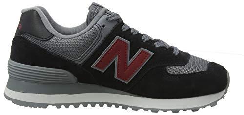 Scarlet Para black Esu nb Hombre 574v2 Negro Zapatillas New Balance gqapSS