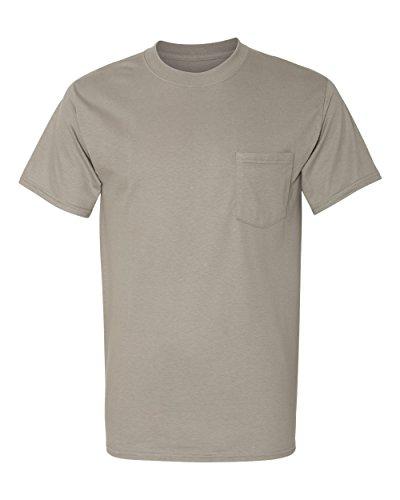 Hanes Beefy-T Men`s Pocket T-Shirt, 5190, M, Vintage Gray (Gray Vintage Tshirt)