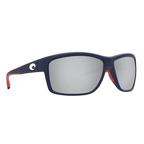 Costa Del Mar Mag Bay Sunglasses, USA Blue/Copper Silver Mirror 580Plastic (Sunglasses Mirror Silver Gray)