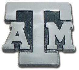 Texas A&M University Aggies NCAA College Chrome Plated Premium Metal Car Truck Motorcycle Emblem by Elektroplate