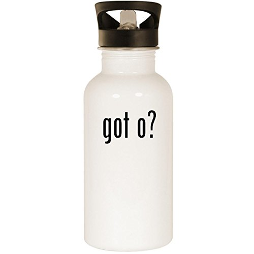 got o? - Stainless Steel 20oz Road Ready Water Bottle, White