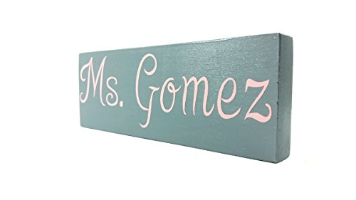 Personalized Custom Wood Name Plate Nameplate Door Desk Office Accessories Decor Teachers Professionals