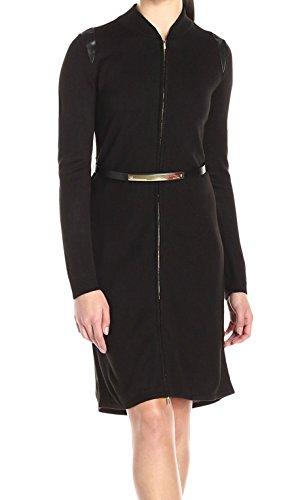 Buy belted black sweater dress - 6